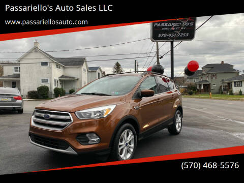 2017 Ford Escape for sale at Passariello's Auto Sales LLC in Old Forge PA