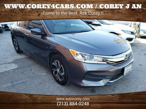 2017 Honda Accord for sale at WWW.COREY4CARS.COM / COREY J AN in Los Angeles CA