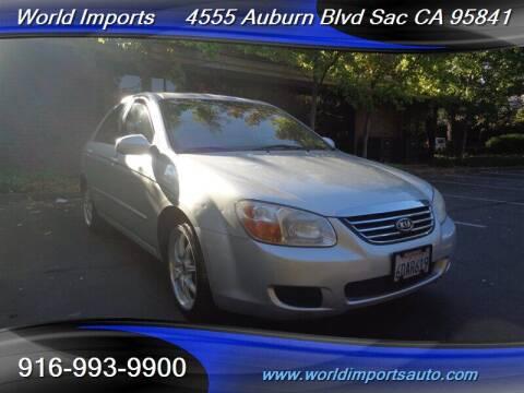 2008 Kia Spectra for sale at World Imports in Sacramento CA