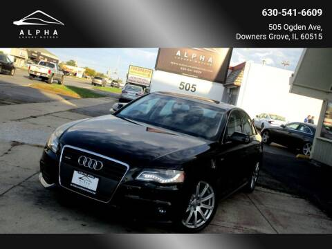 2012 Audi A4 for sale at Alpha Luxury Motors in Downers Grove IL