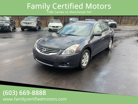 2011 Nissan Altima for sale at Family Certified Motors in Manchester NH