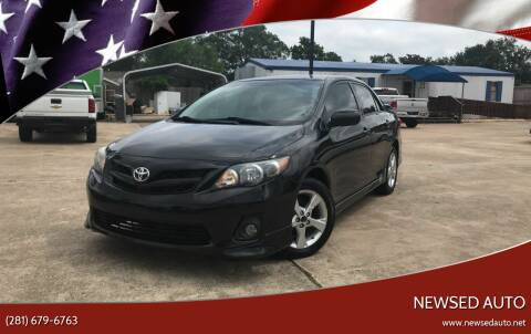 2013 Toyota Corolla for sale at Newsed Auto in Houston TX