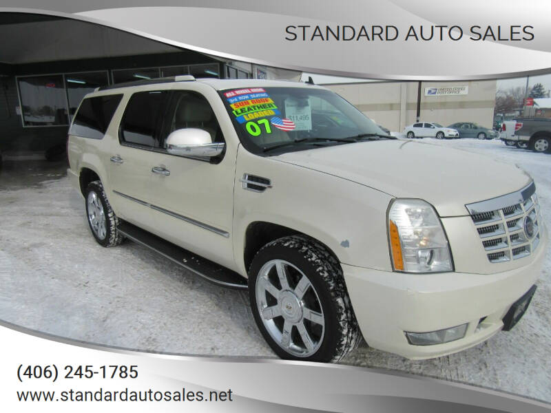 2007 Cadillac Escalade ESV for sale at Standard Auto Sales in Billings MT