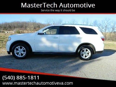 2012 Dodge Durango for sale at MasterTech Automotive in Staunton VA