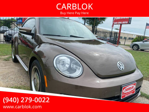 2012 Volkswagen Beetle for sale at CARBLOK in Lewisville TX