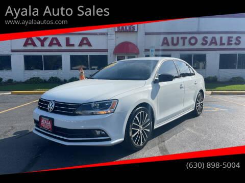 2015 Volkswagen Jetta for sale at Ayala Auto Sales in Aurora IL