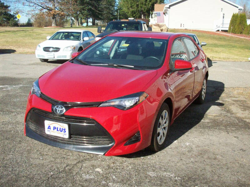 2017 Toyota Corolla for sale at A-Plus Motors in Alton ME