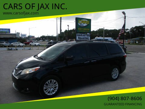 2016 Toyota Sienna for sale at CARS OF JAX INC. in Jacksonville FL