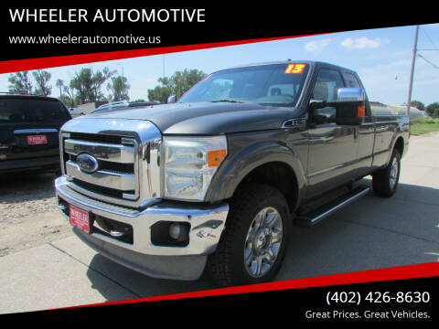 2013 Ford F-250 Super Duty for sale at WHEELER AUTOMOTIVE in Blair NE