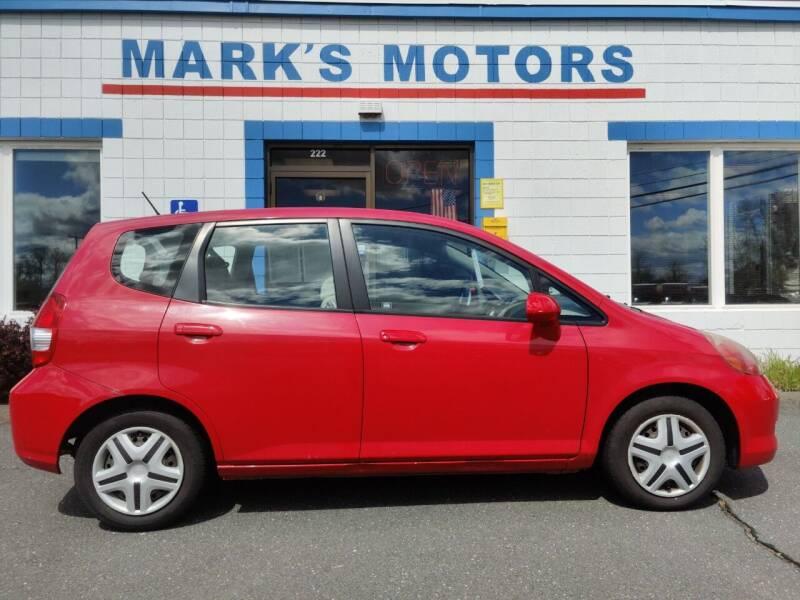 2007 Honda Fit for sale at Mark's Motors in Northampton MA