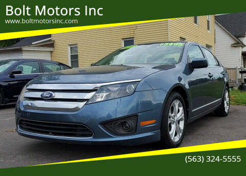 2012 Ford Fusion for sale at Bolt Motors Inc in Davenport IA
