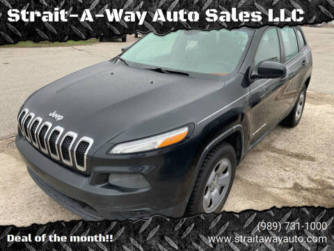 2015 Jeep Cherokee for sale at Strait-A-Way Auto Sales LLC in Gaylord MI