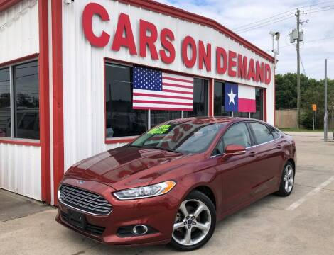 2014 Ford Fusion for sale at Cars On Demand 3 in Pasadena TX