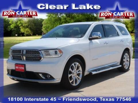 2016 Dodge Durango for sale at Ron Carter  Clear Lake Used Cars in Houston TX