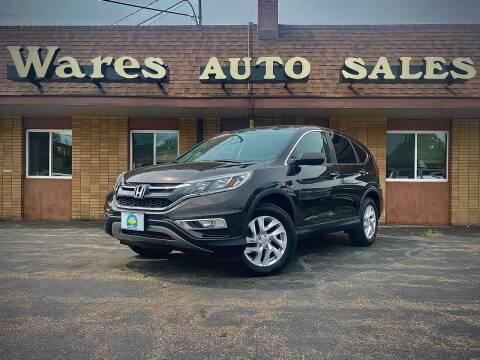 2015 Honda CR-V for sale at Wares Auto Sales INC in Traverse City MI