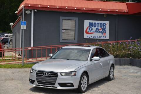 2013 Audi A4 for sale at Motor Car Concepts II - Kirkman Location in Orlando FL