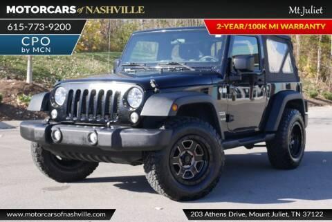 2015 Jeep Wrangler for sale at MotorCars of Nashville in Mount Juliet TN