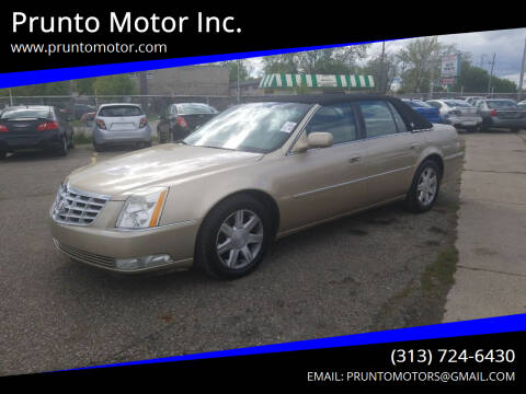 2006 Cadillac DTS for sale at Prunto Motor Inc. in Dearborn MI