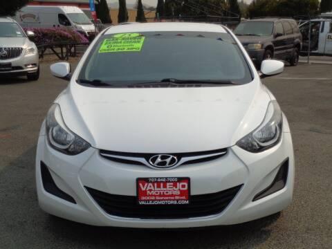 2015 Hyundai Elantra for sale at Vallejo Motors in Vallejo CA
