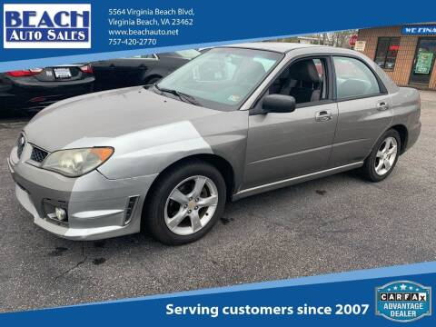 2006 Subaru Impreza for sale at Beach Auto Sales in Virginia Beach VA