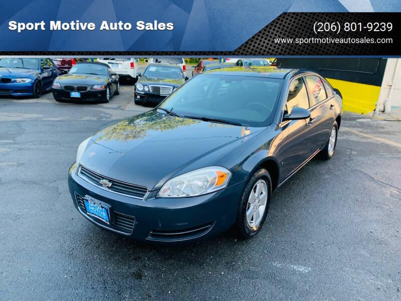 2008 Chevrolet Impala for sale at Sport Motive Auto Sales in Seattle WA