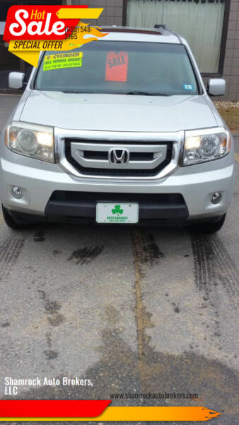 2009 Honda Pilot for sale at Shamrock Auto Brokers, LLC in Belmont NH