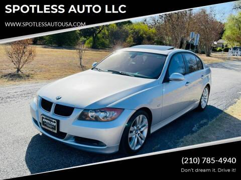 2006 BMW 3 Series for sale at SPOTLESS AUTO LLC in San Antonio TX