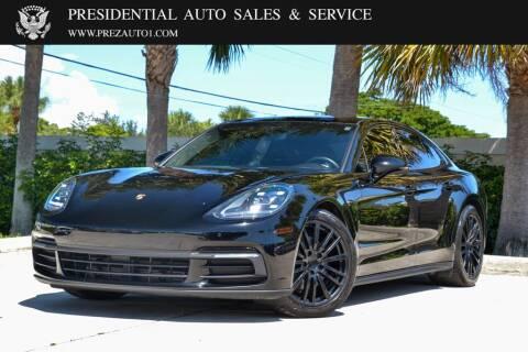 2018 Porsche Panamera for sale at Presidential Auto  Sales & Service in Delray Beach FL