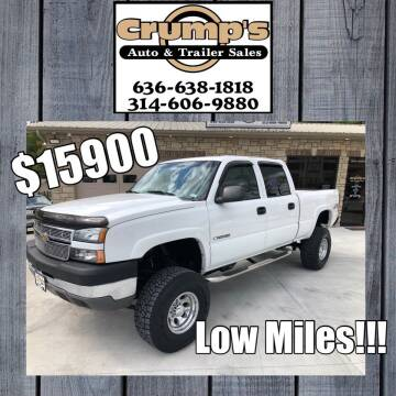 2005 Chevrolet Silverado 2500HD for sale at CRUMP'S AUTO & TRAILER SALES in Crystal City MO