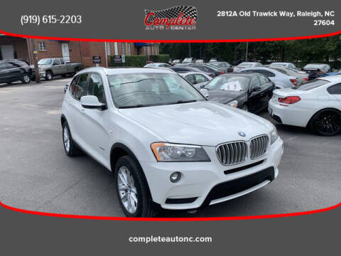2013 BMW X3 for sale at Complete Auto Center , Inc in Raleigh NC