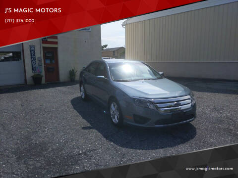 2012 Ford Fusion for sale at J'S MAGIC MOTORS in Lebanon PA