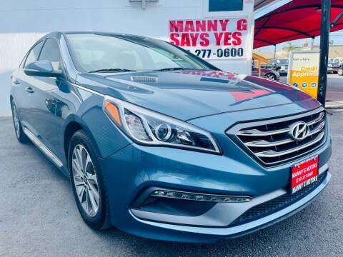 2017 Hyundai Sonata for sale at Manny G Motors in San Antonio TX