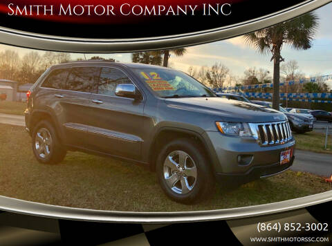 2012 Jeep Grand Cherokee for sale at Smith Motor Company INC in Mc Cormick SC
