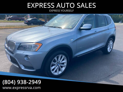 2011 BMW X3 for sale at EXPRESS AUTO SALES in Midlothian VA