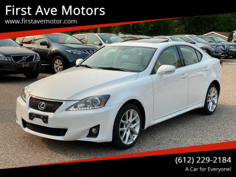 2011 Lexus IS 250 for sale at First Ave Motors in Shakopee MN