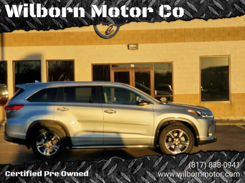 2017 Toyota Highlander for sale at Wilborn Motor Co in Fort Worth TX