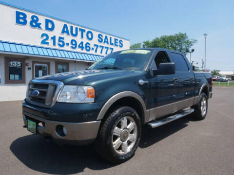 2006 Ford F-150 for sale at B & D Auto Sales Inc. in Fairless Hills PA