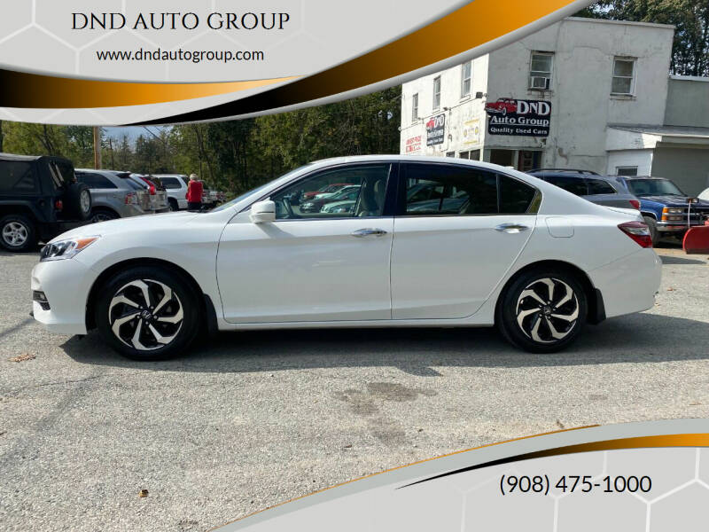 2016 Honda Accord for sale at DND AUTO GROUP in Belvidere NJ