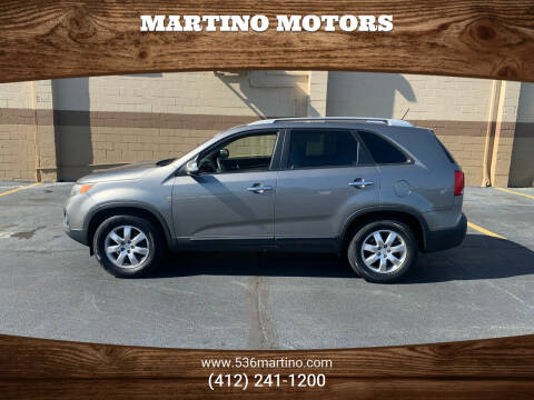 2011 Kia Sorento for sale at Martino Motors in Pittsburgh PA
