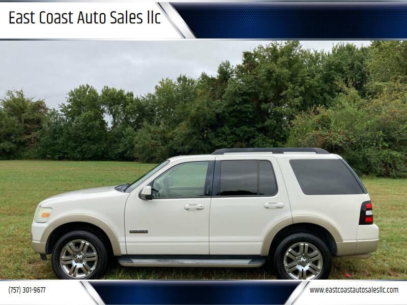 2008 Ford Explorer for sale at East Coast Auto Sales llc in Virginia Beach VA
