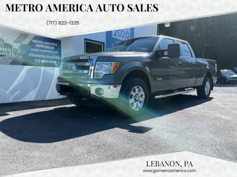 2013 Ford F-150 for sale at METRO AMERICA AUTO SALES of Lebanon in Lebanon PA