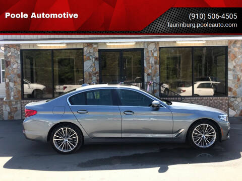 2018 BMW 5 Series for sale at Poole Automotive in Laurinburg NC