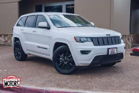 2018 Jeep Grand Cherokee for sale at Mcandrew Motors in Arlington TX