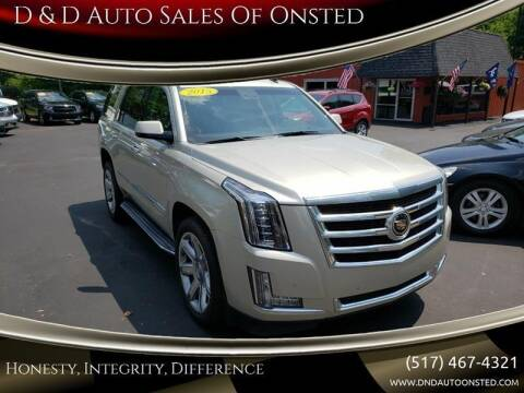 2015 Cadillac Escalade for sale at D & D Auto Sales Of Onsted in Onsted   Brooklyn MI