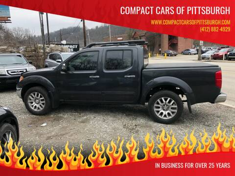 2011 Nissan Frontier for sale at Compact Cars of Pittsburgh in Pittsburgh PA