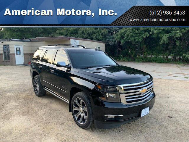 2016 Chevrolet Tahoe for sale at American Motors, Inc. in Farmington MN