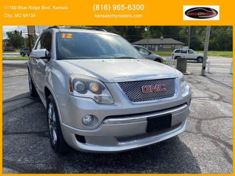 2012 GMC Acadia for sale at Kansas City Motors in Kansas City MO