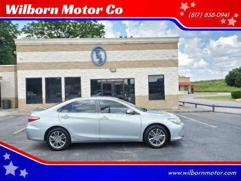 2016 Toyota Camry for sale at Wilborn Motor Co in Fort Worth TX
