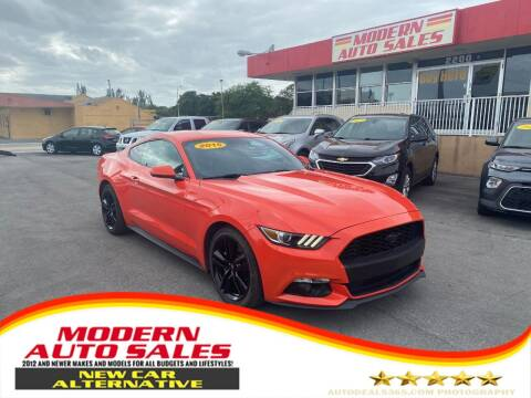 2015 Ford Mustang for sale at Modern Auto Sales in Hollywood FL