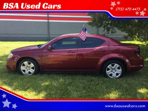 2014 Dodge Avenger for sale at BSA Used Cars in Pasadena TX